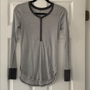 Abercrombie & Fitch Ribbed Henley Top, used for sale
